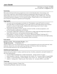 Resume Samples With Summary by Professional Environmental Activist Templates To Showcase Your