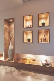 Modern POP Wall Designs In Hall Shelves In POP Designs Wall - Wall niches designs