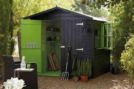 Shed For Backyard by Black And Green Garden Shed For Tools Backyard Garden Sheds