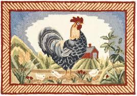 Round Rooster Rug Safavieh Durarug Blue Rooster Area Rug U0026 Reviews Wayfair