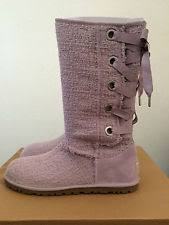 womens ugg boots purple ugg australia cotton lace up boots for ebay
