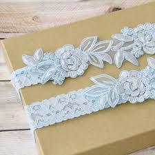 Gallery For Gt Light Blue by Light Blue Embroidery Flower Lace Wedding Garter Set Light Blue