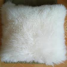 Cushion Covers For Sofa Pillows by Real White Mongolian Lamb Fur Pillow Cover Cushion Covers For Sofa