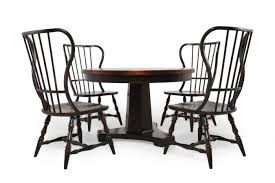 five piece spindle back transitional dining set in rich ebony