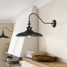 gooseneck barn light fixtures gooseneck barn light sconce wayfair