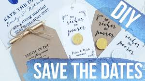 save the date ideas diy diy budget save the date ideas