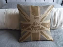 British Flag Pillow Muted Brown And Blue Military Union Jack Cushion 62 00 Helkat