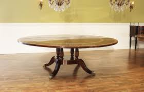 Dining Room Storage Cabinet Large Formal U0026traditional Round Mahogany Dining Table W Leaves