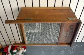 upcycled glass washboard crate wooden wall hanging cabinet storage