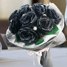 black roses delivery artificial flower bouquet singapore flowers for sale free