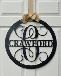 monogrammed guest book 24 wooden letter painted monogram door hanger family name
