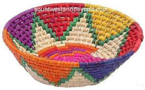 Mexican Gift Basket Palm Baskets Traditional Mexican Folk Art