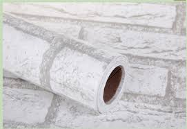 white brick design waterproof pvc self adhesive film wallpaper for