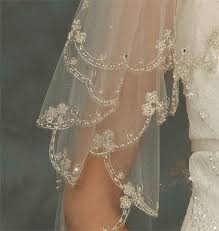 wedding veils for sale stunning 2 tier vintage beaded lace edge chagne bridal veil