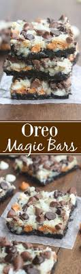 oreo magic bars dessert recipe via tastes better from scratch seven simple layers of oreo chocolate bliss starting with an oreo crust three diffe