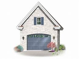 2 Story Garage Plans With Apartments 1 Car Garage Plans Detached One Car Garage Plan With Loft 028g