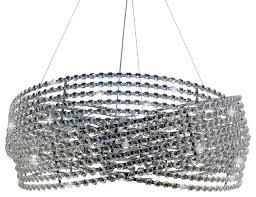 Drum Pendant Chandelier With Crystals 23