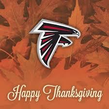 atlanta falcons on happy thanksgiving falcons fans
