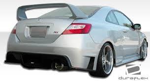 2007 honda civic si coupe kits duraflex 2dr gt500 wide rear bumper kit 1 pc for honda