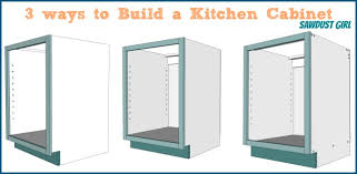 building kitchen cabinets three ways to build a basic kitchen cabinet sawdust kitchen