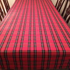 tartan plaid tablecloth tablecloth