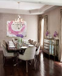 mirrored buffet dining room transitional with updated traditional