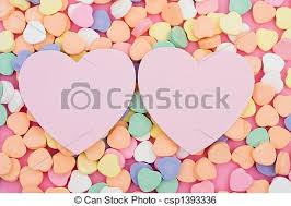 sweetheart candy sweetheart candy hearts with two blank paper heart stock image