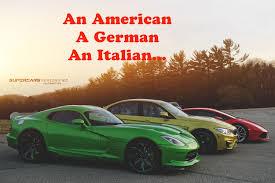 is lamborghini a german car lamborghini huracan bmw m3 srt viper an a german