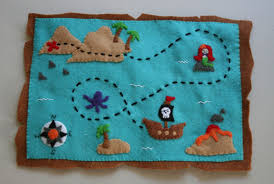 Treasure Maps Sunshiny Days Felt Treasure Map