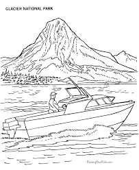 Boat Colors Pictures Fishing Ship Colouring Pages Reich