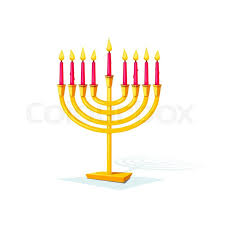 hanukkah candles colors happy hanukkah gold colors menorah isolated of background vector