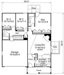 plan 57149ha efficient ranch home plan for a slender lot