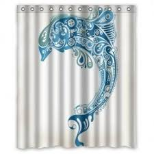 Waterproof Fabric Shower Curtains Dolphin Fabric Shower Curtain Foter