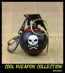 aliexpress key rings images Cool skull bomb grenade keychain metal gun weapon collection toy jpg