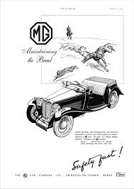 car advert mg tc 2 1946 mg ta tb tc td tf pinterest cars