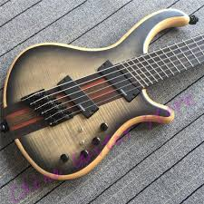 fanned fret 6 string bass top quality ash body 6 string setius fanned frets bass guitar 7ply