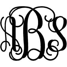 monogram decals interlocking monogram decal