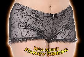 halloween fancy dress black spiderweb panties 20 22