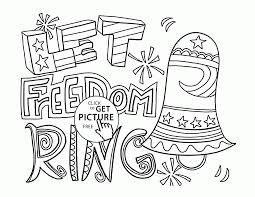 let freedom ring 4th of july coloring page for kids coloring