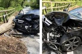 shocking pictures show leicester city star u0027s wrecked mercedes