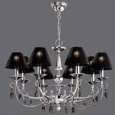 Chandelier With Black Shades Black Chandelier Small Black Editonline Us