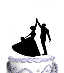 high five cake topper meijiafei and groom high five silhouette wedding cake topper