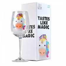 cartoon wine glass jolly awesome unicorn wine glass amazon co uk office products