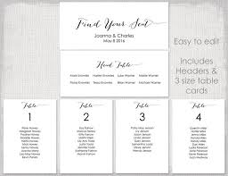 wedding table seating plan template