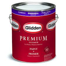 glidden premium 1 gal pure white eggshell interior paint gln6011
