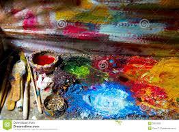Paint Pallet by Artist Oil Paint Palette Stock Photos Image 32610633