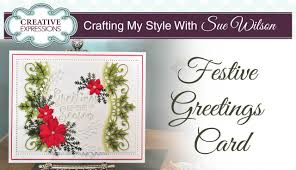traditional christmas card with holly crafting my style with sue