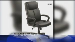 Office Max Office Chair Office Depot Officemax Executive Chair Recall Youtube