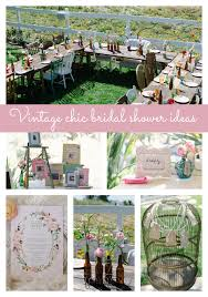 vintage bridal shower vintage chic bridal shower pretty my party