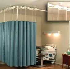 blue and white hospital curtains u2014 miami prop rental